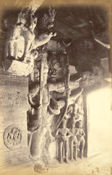 Sculpture of Vishnu as Trivikrama, in Cave III, Badami, Bijapur District